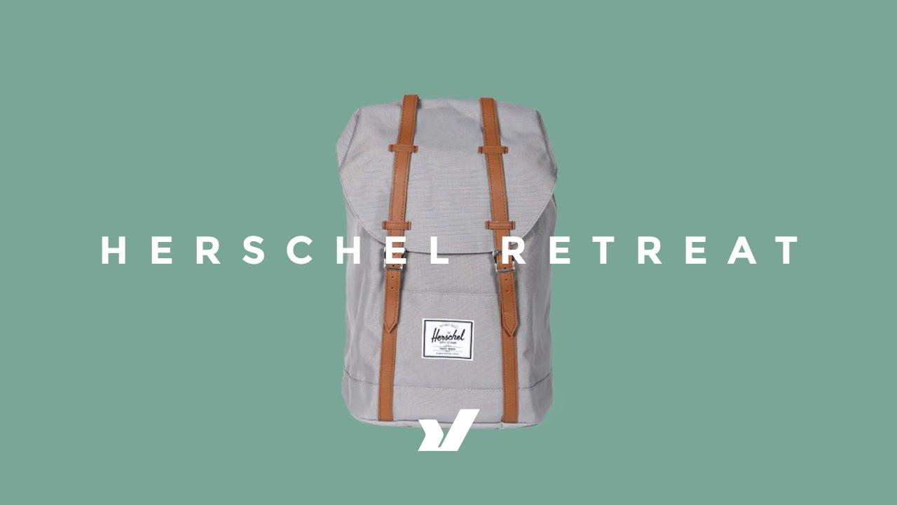 The Herschel Retreat Backpack - YouTube 59ca1a22a8fe5