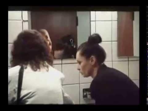Scary Ghost In Ladies Bathroom Mirror Prank