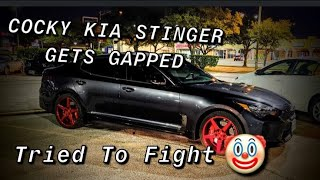 Cocky Kia Stinger Calls Out 370Z. Tried To Fight Me.