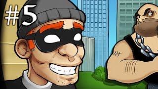 ВОРИШКА БОБ [5] УБЕГАЕМ ОТ ПОЛИЦЕЙСКИХ Игровой мультик для детей Игра на Андройд Robbery Bob