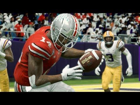 NCAA Football 20 - Ohio State Buckeyes Vs LSU Tigers Full Game - Madden 20 College Football Mod (PC)