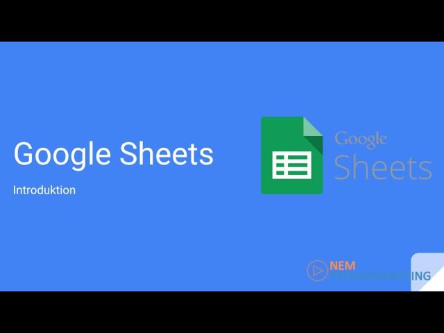 Google Sheets kursus