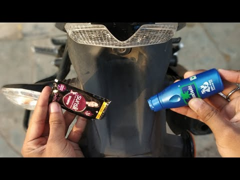 Shine Bike with Shampoo & Coconut oil, the cheapest way to shine fiber body of bikes & scooters