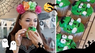 Frankenstein Cupcakes | Halloween Baking
