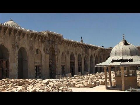 شاهد: استمرار عملية ترميم الجامع الأموي الكبير في حلب  - 20:22-2018 / 8 / 14