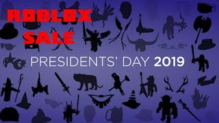 Roblox Presidents Sale So Far