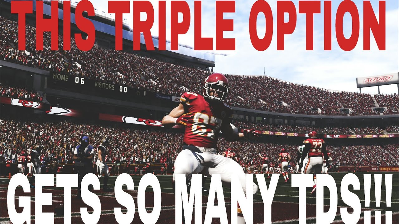 insane triple option play for easy one play td s madden 17 money