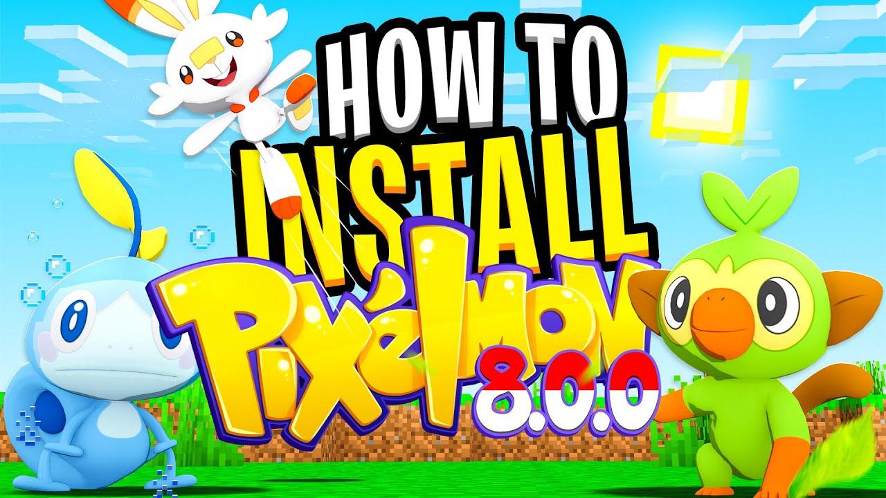 HOW TO INSTALL PIXELMON 8 0 0 (UPDATED) Minecraft Pokemon Mod