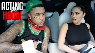 "ACTING ""HOOD"" TO SEE HOW MY GIRLFRIEND REACTS.. **HILARIOUS**"