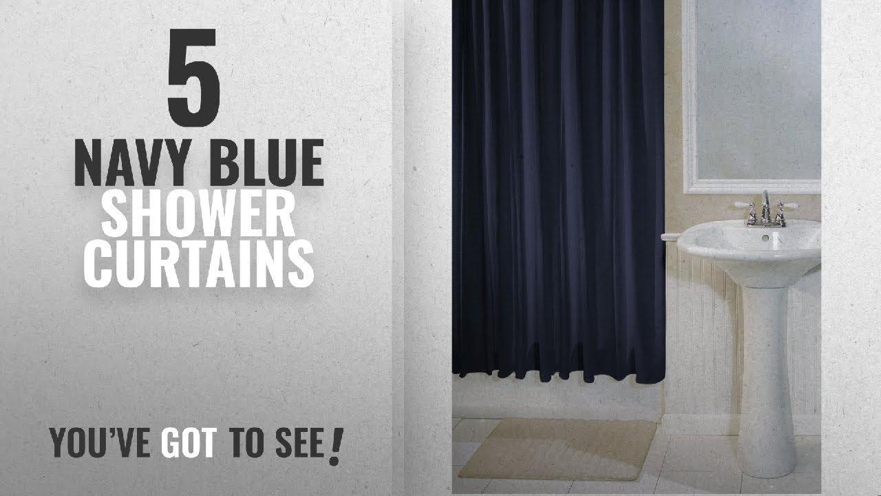 Top 10 Navy Blue Shower Curtains [2018]: InterDesign York Hotel ...