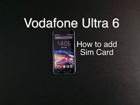 How to put sim card in Vodafone Smart Ultra 6