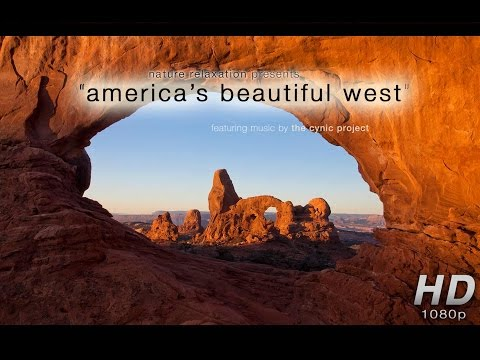 """America's Beautiful West"" (Just Nature Sounds) 1 Hour Relaxation Video 1080p"