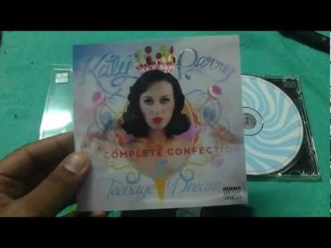 CD unboxing katy perry- teenage dream the complete confection (indian edition)