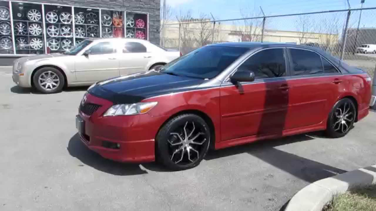 Beautiful HILLYARD RIM LIONS 2007 TOYOTA CAMRY WITH 18 INCH BLACK CUSTOM RIMS STARR  308 LAPUA
