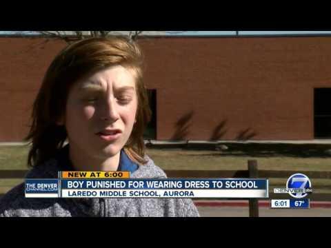 Boy wears dress to Cherry Creek school; administration orders it taken off