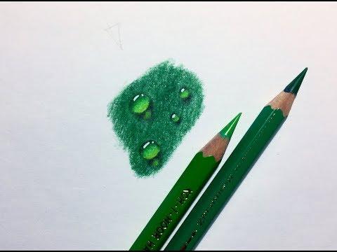 Как нарисовать капли воды цветными карандашами
