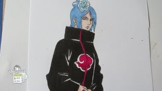 How to draw Konan 小南
