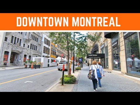 Virtual Tour Of Downtown Montreal  Peel Street #centrevilledemontreal #downtownmontreal #montreal