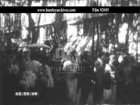Barcelona in the 1930's.  Archive film 92695