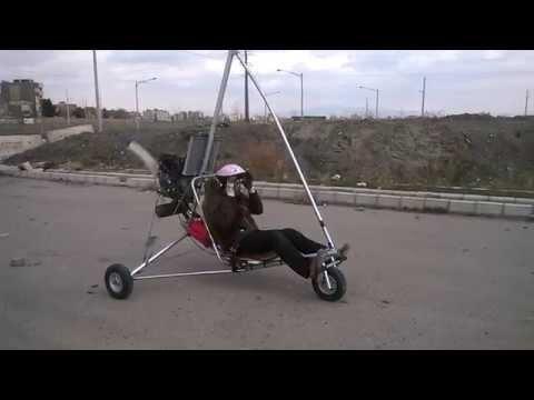 hang glider trike with yamaha61x engines home made