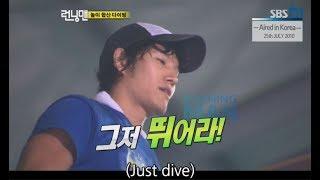 [RUNNINGMAN BEGINS] [EP 3-1]   Jongkook's super challenge : Diving from 10m high!! (ENG SUB)