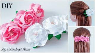 DIY handmade kanzashi flower hairclip 🌺🌺/手作发饰:Lily's Handcraft House