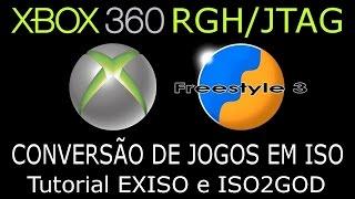 XBOX360 RGH/JTAG.Conversão de jogos em ISO. Tutorial EXISO e ISO2GOD. RÁPIDO e SIMPLES !!!
