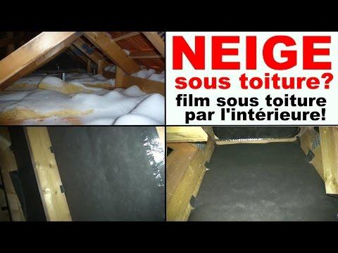 Neige Sous Toiture Tuile Comble Infiltration De Neige
