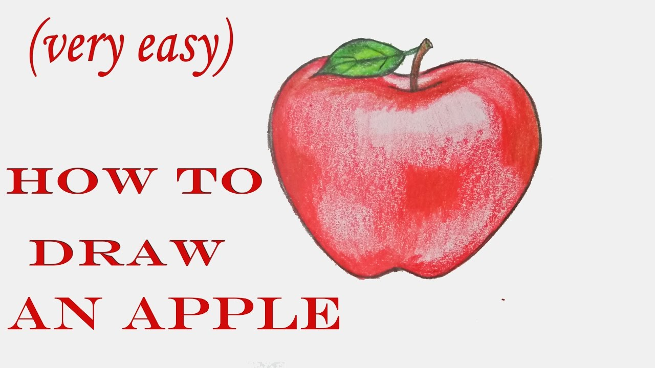 How To Draw An Apple Step By Step Very Easy