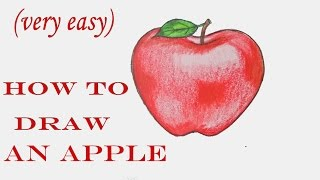 How to draw an Apple step by step (very easy)