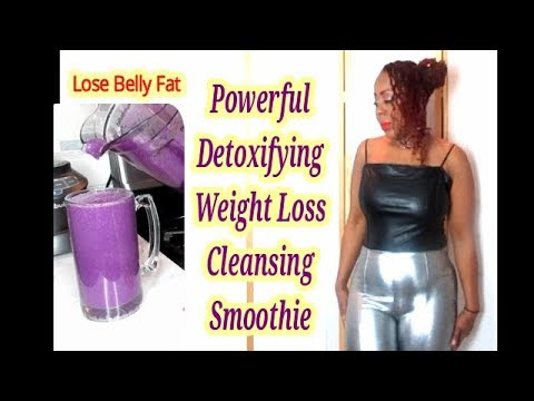 Powerful Detoxification Weight Loss Colon Cleansing Smoothie || Flatten Your Belly Fast