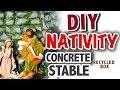 "Make Easy ""Concrete"" Barn House for the Nativity Set"