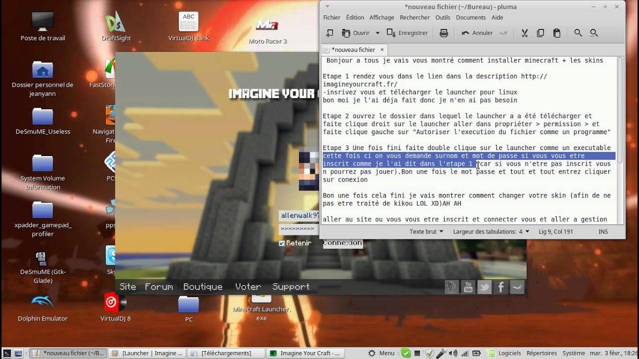 tuto installer minecraft sur pc pour linux gratuitement youtube. Black Bedroom Furniture Sets. Home Design Ideas