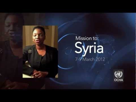 USG/ ERC Valerie Amos - Mission to Syria - March 2012