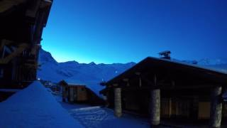 Sunrise on a POW day at Val Thorens!