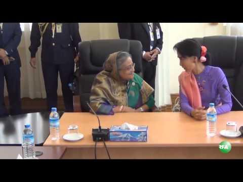 Bangladesh Prime Minister Meets With Daw Aung San Suu Kyi
