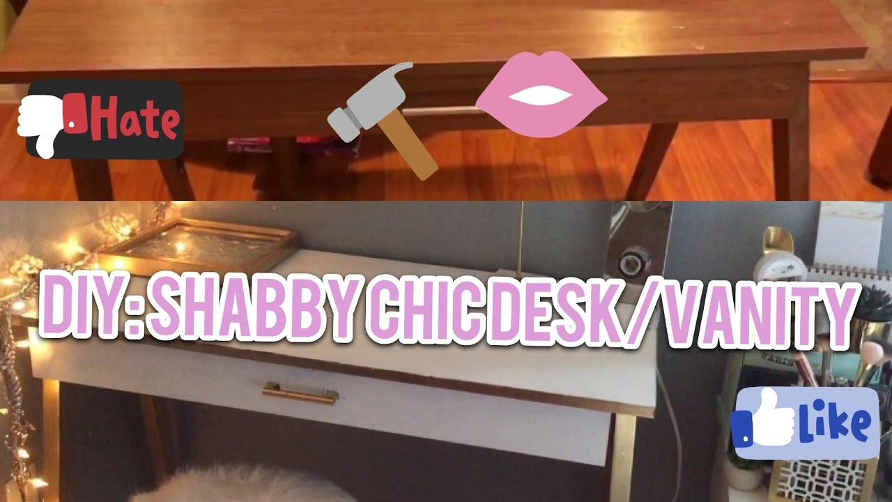 DIY Shabby Chic Desk Vanity