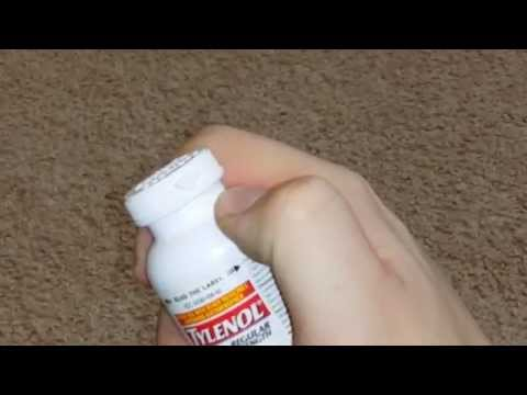 How to open a bottle of pills