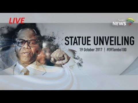 Unveiling of a life-size OR Tambo statue at the O.R. Tambo International Airport