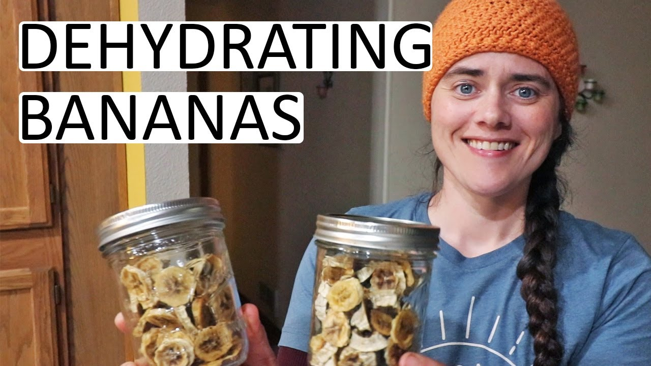 Dehydrating Bananas and Making Banana Fruit Leather