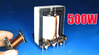 How to rewind ATX Transformer for 500W Solar inverter Step by step (Part 1)