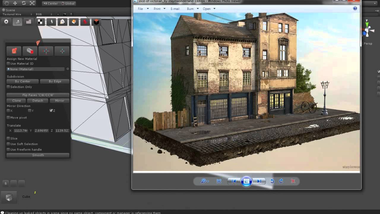 Level Design Of A Small Town Modeling Part 01 Using