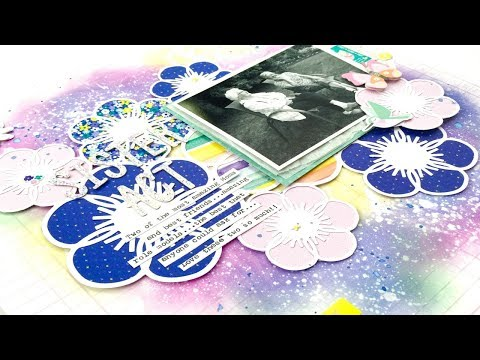 Mother's Day Scrapbooking Process Video (JustNick)