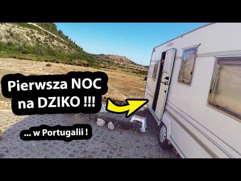 Śpimy na Dziko w Przyczepie Kempingowej !!! -  BARDZO Ciemna Noc w Portugalii (Vlog #324)