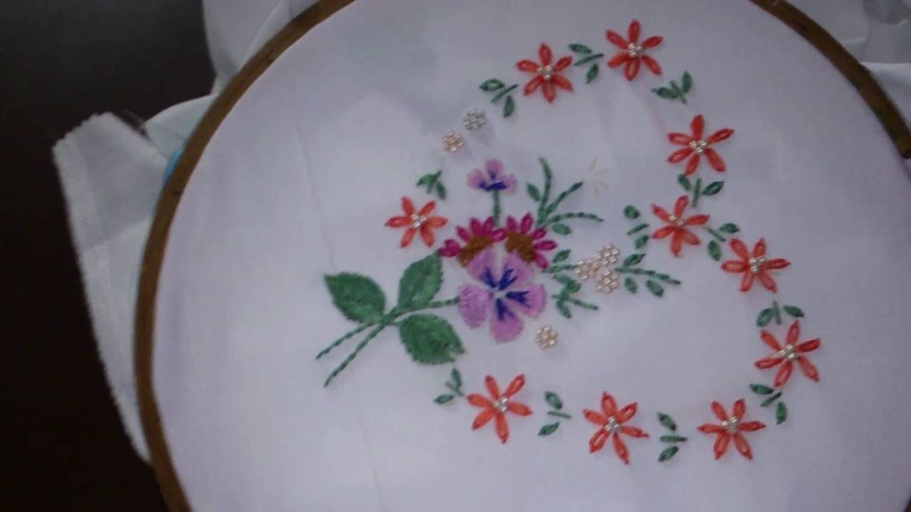 Ribbon Work Embroidery Design