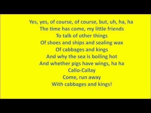 Walrus and the Carpenter Lyrics