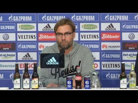 Pressekonferenz: Jürgen Klopp und Jens Keller nach dem Derby Schalke 04 - BVB (2:1)