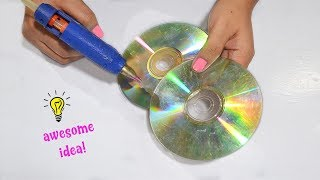 Best Reuse Idea With Old Cds How To Recycle Old Cds