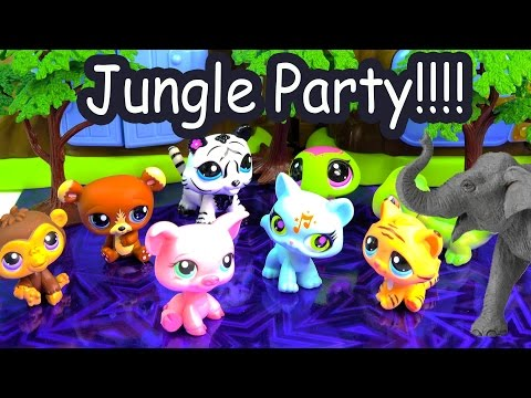 LPS Jungle New Years Eve Party Littlest Pet Shop Wild Safari Elephant Toy Cookieswirlc