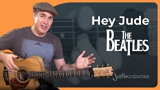 How to play Hey Jude by The Beatles - Easy Song Guitar Lesson Tutorial (ST-384)